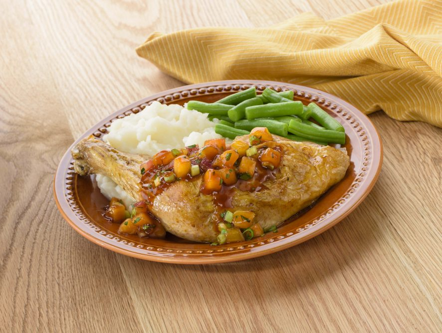 Tequila Peach Relish With Roasted Chicken