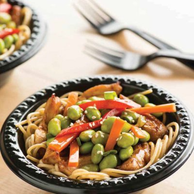 Chicken and Edamame Noodle Bowl