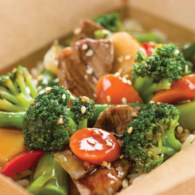 Stir Fry Beef and Vegetables with Rice