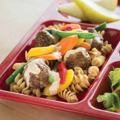 Warm Your Heart Meatballs and Noodles with Vegetables