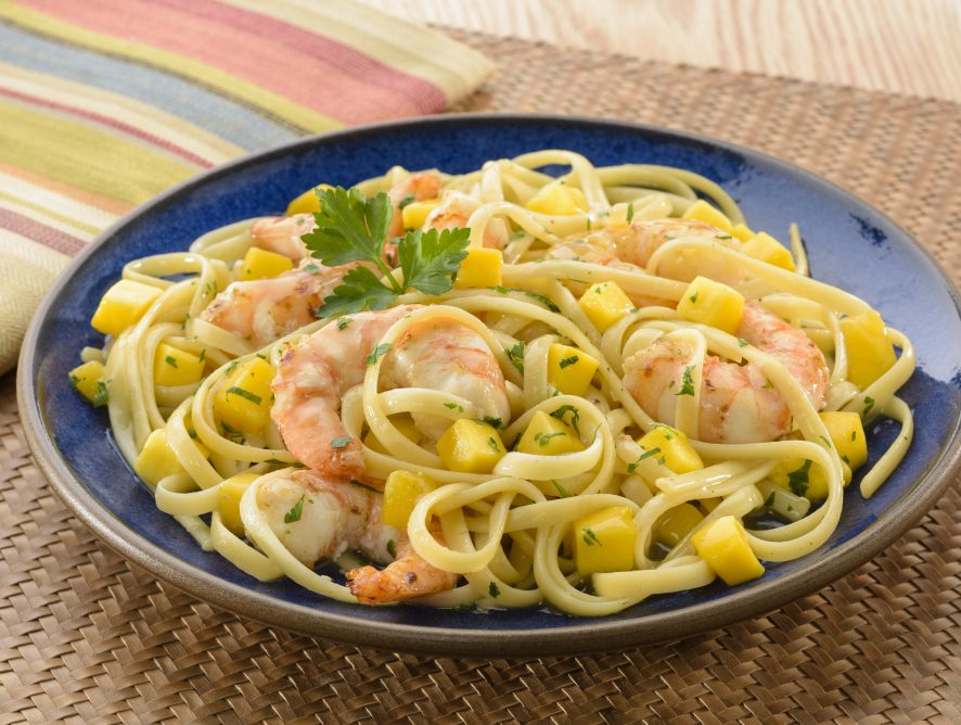 Tropical Mango Shrimp Scampi