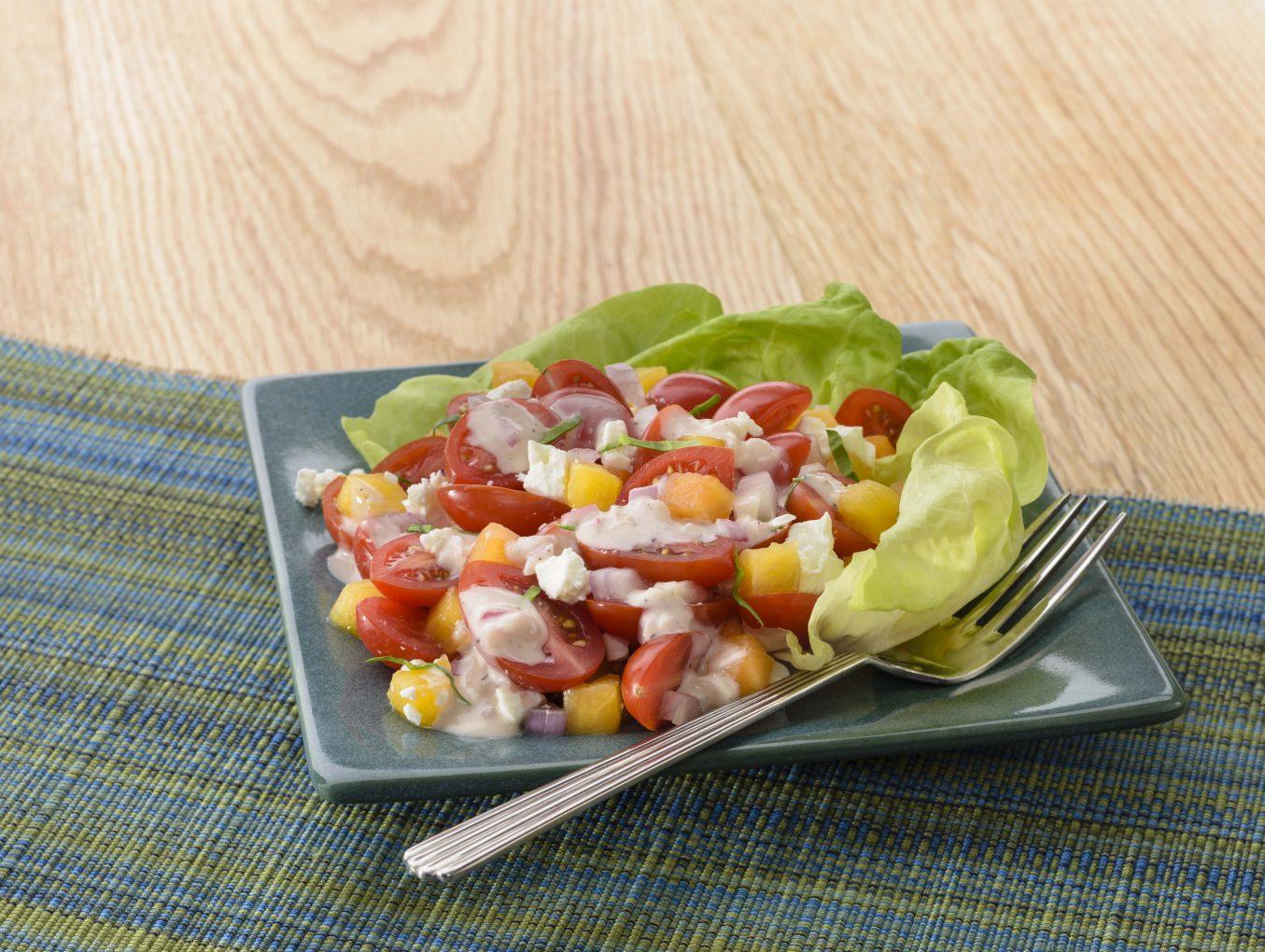 Peach & Tomato Salad