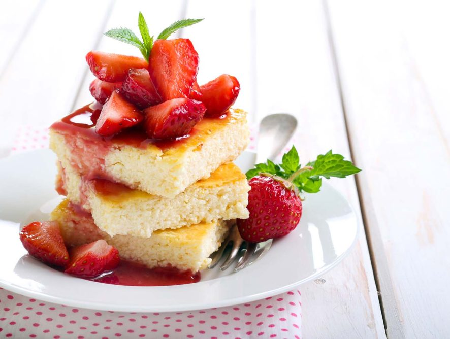 Strawberry Lemon Cheesecake Bars