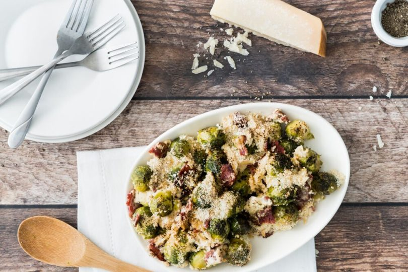 Bacon Brussels Sprout Bake