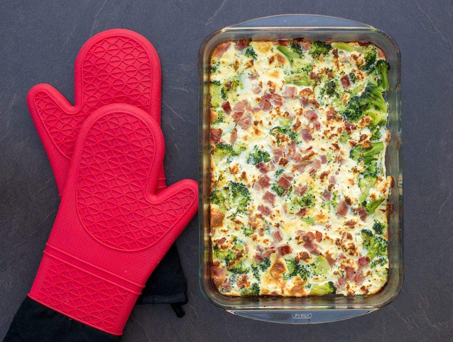 Veggies & Ham Breakfast Casserole