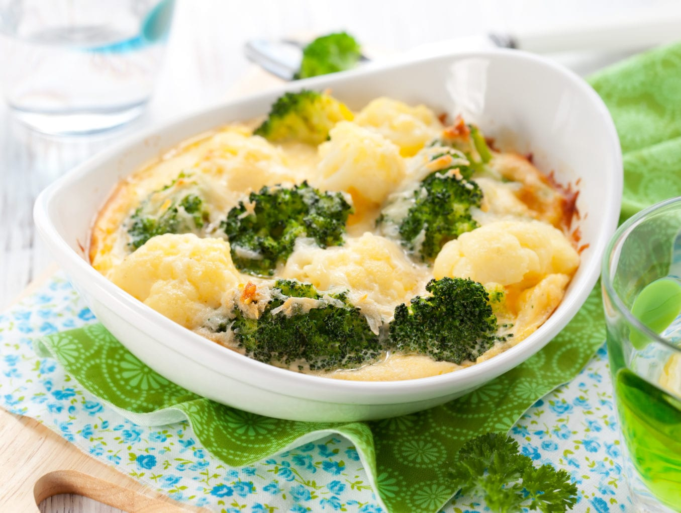 Crumb Topped Broccoli Cauliflower Bake