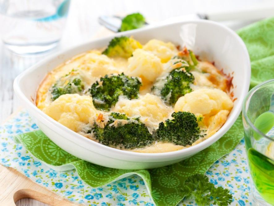 Crumb Topped Broccoli Cauliflower Bake